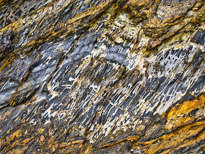 Slaty Cleavage - Denhams Beach - Nsw - Australia Art Print by Steven Ralser
