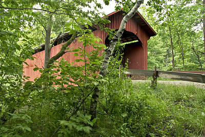 Slaughter House Covered Bridge In Northfield Vermont Art Print