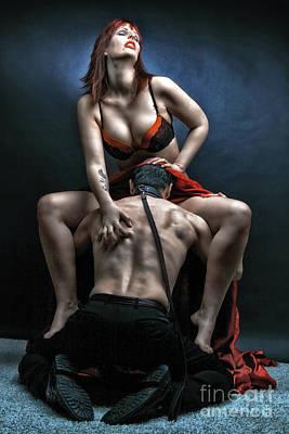 Photograph - Slave Femdom - Fine Art Of Bondage by Rod Meier
