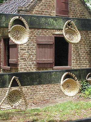 Slave Shack And Sweet Grass Baskets Art Print