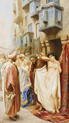 The Slave Market Painting - Slave To The Market by Fabio Fabbi