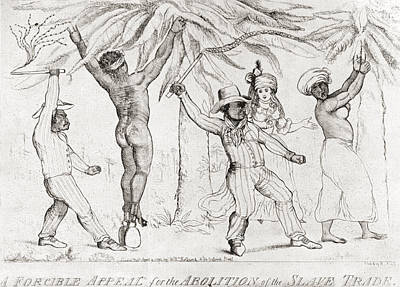 Slaves Drawing - Slave Trading In The 19th Century by Vintage Design Pics
