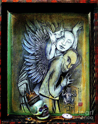 Wall Art - Mixed Media - Slaves, All Spirits That Would Serve Things Evil by Carole Lindberg