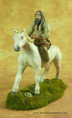 Slavic Mixed Media - Slavic Horseman by Przemyslaw Stanuch