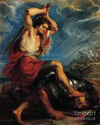 Slaying Painting - Slaying Goliath by MotionAge Designs