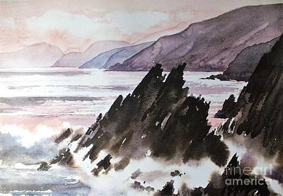 Painting - F 770  Slea Head On The Wild Atlantic Way Co. Kerry by Val Byrne