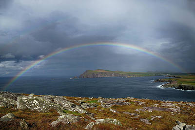 Photograph - Slea Head Rainbow - Alternate Processing by Bill Jordan