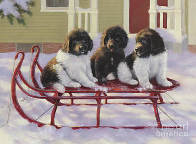Sled Dogs Original by Dale Tremblay