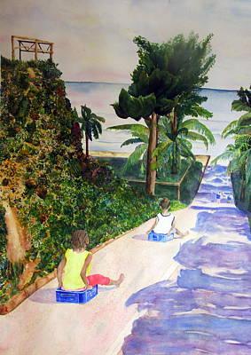 Sledding On The Rio Dulce Original by Joann Perry
