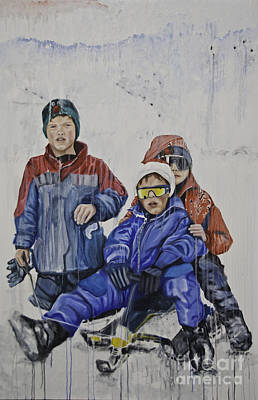 Painting - Sledgers by James Lavott