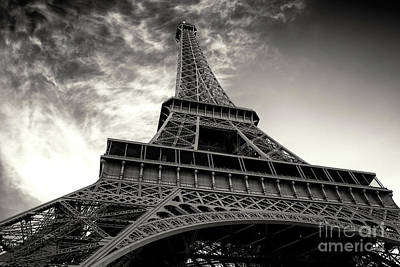 Photograph - Sleek Eiffel Tower by John Rizzuto