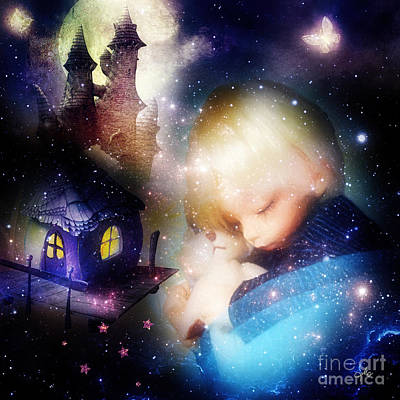 Painting - Sleep Little Prince by Mo T