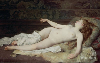 Dreamer Painting - Sleep by Louis Joseph Raphael Collin