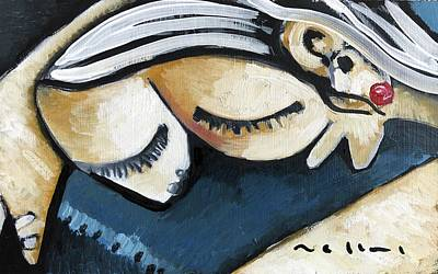 Cubism Wall Art - Painting - Sleep No. 2  by Mark M Mellon