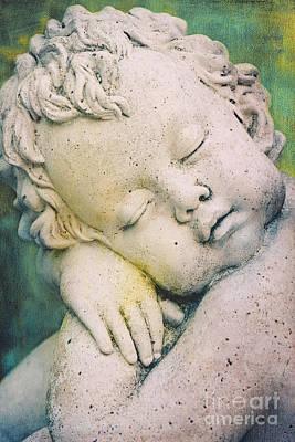 Childlike Mixed Media - Sleeping Angel by Angela Doelling AD DESIGN Photo and PhotoArt