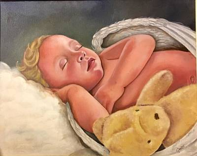 Painting - Sleeping Angel by Gwendolyn Frazier