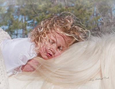 Sleeping Angel Art Print by Terry Kirkland Cook