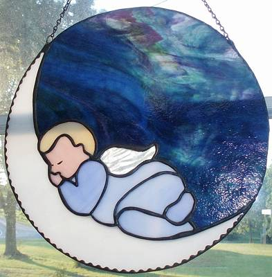 Glass Art - Sleeping Baby by Liz Lowder