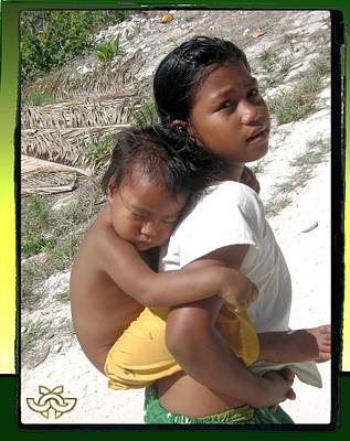 Photograph - Sleeping Baby On Child In Fanning Island by Jane Gordon