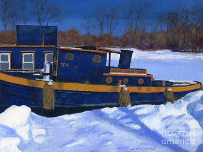 Painting - Sleeping Barge by Lynne Reichhart