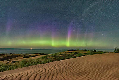 Photograph - Sleeping Bear Aurora  by Thomas Pettengill