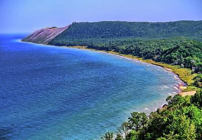 Photograph - Sleeping Bear Dunes National Lakeshore Panorama by Dan Sproul
