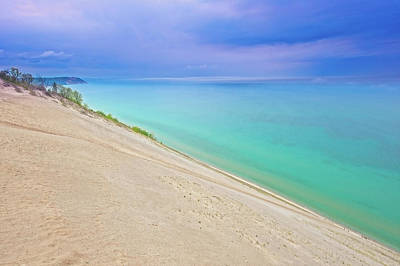 Photograph - Sleeping Bear Dunes On A Stormy Day  -  Sleepingbeardune171358 by Frank J Benz