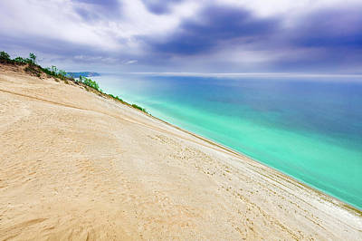 Photograph - Sleeping Bear Dunes On A Stormy Day  -  Sleepingbeardunes171373 by Frank J Benz