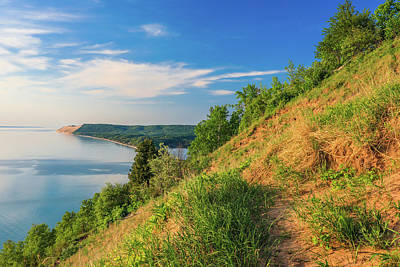 Photograph - Sleeping Bear Lakeshore View From Empire Bluff by Dan Sproul
