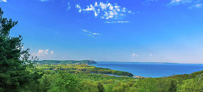 Photograph - Sleeping Bear Overlook Panorama by Dan Sproul