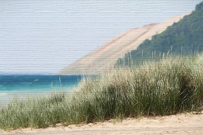 Mixed Media - Sleeping Bear Sand Dune by Dan Sproul