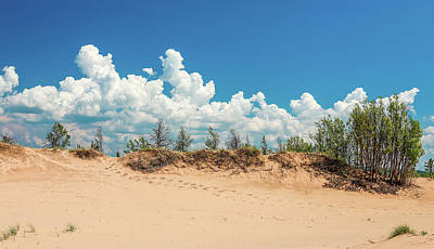 Photograph - Sleeping Bear Sand Dune Footprints by Dan Sproul