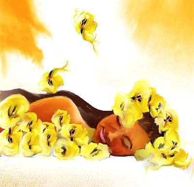 Painting - Sleeping Beauty by Belinda Threeths