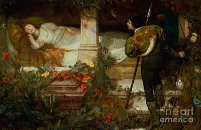 Painting - Sleeping Beauty by Edward Frederick Brewtnall