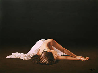Nude Wall Art - Painting - Sleeping Beauty by Horacio Cardozo