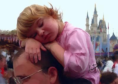 Sleeping Beauty Art Print by Lori Enyart