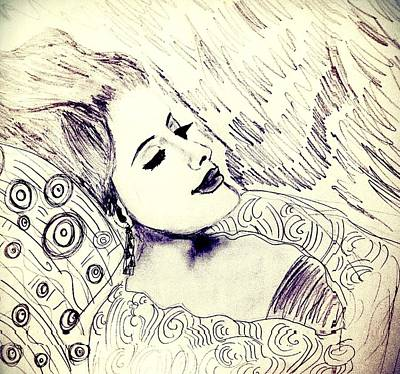 Adele Drawing - Sleeping Beauty by Melanie Cecconi