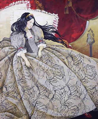 Amazing Stories Painting - sleeping Beauty by Natalya Mosyagina