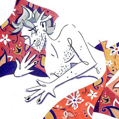 Drawing - Sleeping Beauty - Prince Dreamer - Bello Durmiente by Arte Venezia