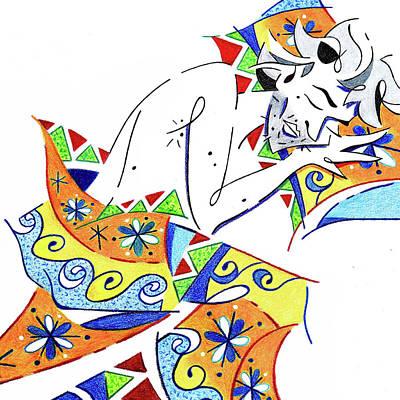Painting - Sleeping Beauty - Sweet Dreams - Spring Feeling Illustration by Arte Venezia