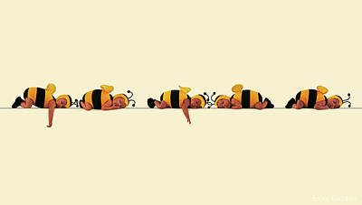 Bee Photograph - Sleeping Bees by Anne Geddes