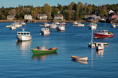 Quiet Town Photograph - Sleeping Boats by Jon Glaser