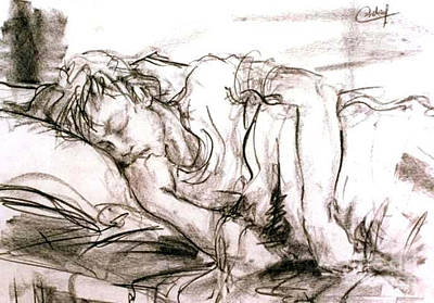 Sleeping Boy Art Print by Debora Cardaci