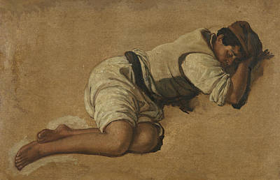 Painting - Sleeping Boy by Franz Ludwig Catel