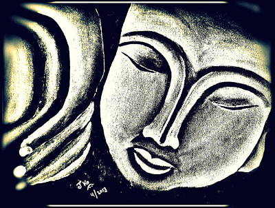 Sleeping Buddha 6 Print by Jagjeet Kaur