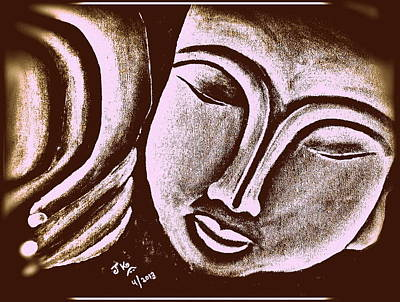 Sleeping Buddha 7 Print by Jagjeet Kaur