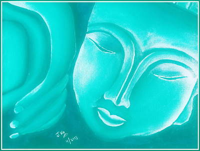 Sleeping Buddha 26 Print by Jagjeet Kaur