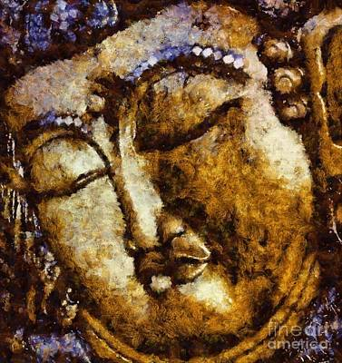 Free Painting - Sleeping Buddha By Sarah Kirk by Sarah Kirk