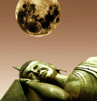 Sleeping Buddha Digital Art - Sleeping Buddha by KaFra Art
