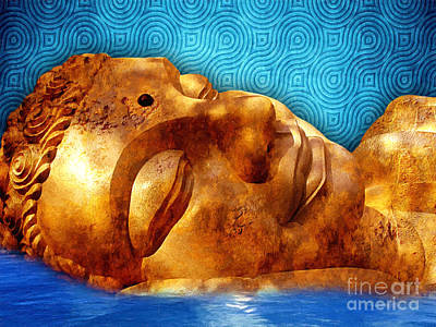 Sleeping Buddha Art Print by Khalil Houri